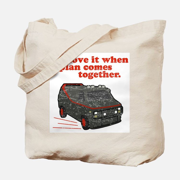 A-Team van & quote Tote Bag