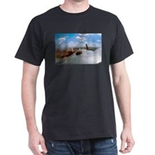B-25 Out The Top Black T-Shirt