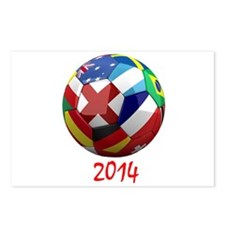 2014 Soccer Ball Postcards (Package of 8)