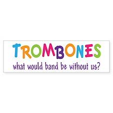 Funny Rainbow Band Trombone Bumper Sticker