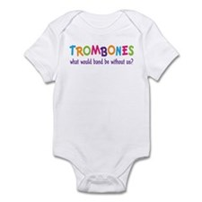 Funny Rainbow Band Trombone Infant Bodysuit