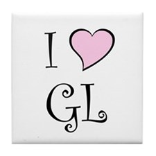 I Heart GL Tile Coaster