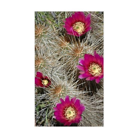 Cactus Flowers Rectangle Sticker