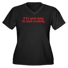Overdone Women's Plus Size V-Neck Dark T-Shirt