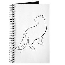 Cat Lookiing Over Shoulder Journal