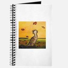 Falling Leaf Cat Journal