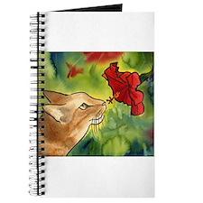 Hibiscus Cat Journal