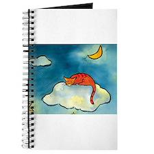 sleeping cloud cat with moon Journal