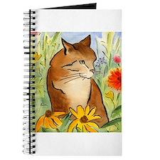 Orange Stripey Tabby Cat Journal