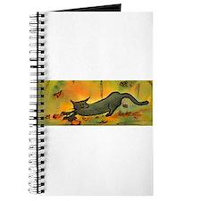Leaves Scatter Cat Journal