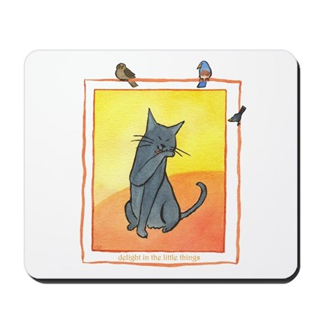 Cat-Delight in the Little Things Mousepad