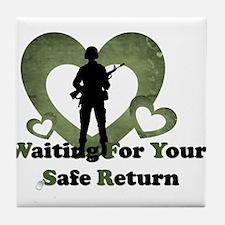 safe return Tile Coaster