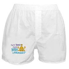 Body Language Boxer Shorts