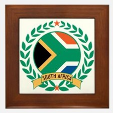 South Africa Wreath Framed Tile