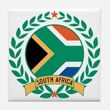 South Africa Wreath Tile Coaster