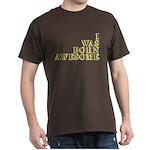 I Was Born Awesome Dark T-Shirt