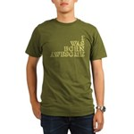I Was Born Awesome Organic Men's T-Shirt (dark)