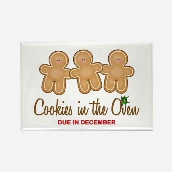 Triplet Cookies Rectangle Magnet