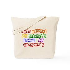 What Happens at Grandma's Sta Tote Bag