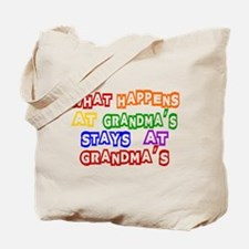 What Happens at Grandma's Sta Tote Bag