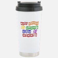 What Happens at Grandma's Sta Travel Mug