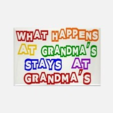 What Happens at Grandma's Sta Rectangle Magnet