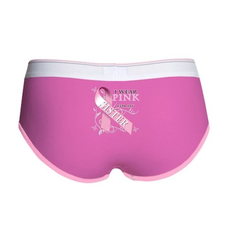 I Wear Pink for my Sister Women's Boy Brief