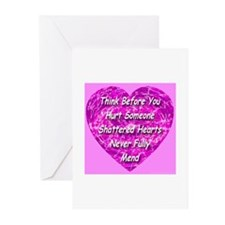 Shattered Heart Greeting Cards (Pk of 10)
