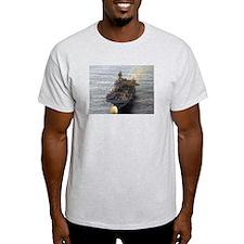USS Iwo Jima LHD 7 Ash Grey T-Shirt