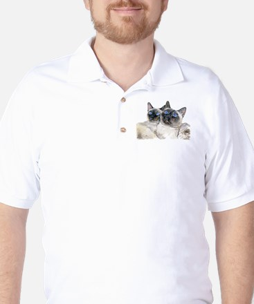 Beautiful Blue Eyed Siamese C Golf Shirt
