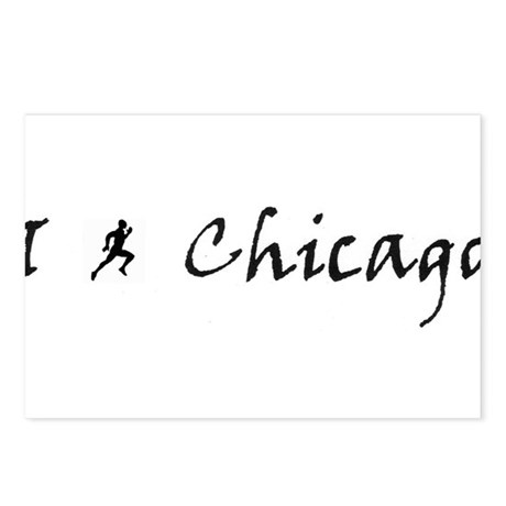 Runner in Chicago Postcards (Package of 8)
