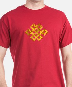 Endless Knot (gold) - T-Shirt