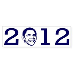 2012 Obama Portrait Bumper Sticker