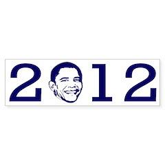 2012 Obama Portrait Bumper Bumper Sticker