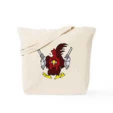 Chickens Got Guns Tote Bag