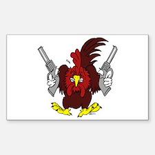 Chickens Got Guns Decal