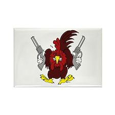 Chickens Got Guns Rectangle Magnet (10 pack)