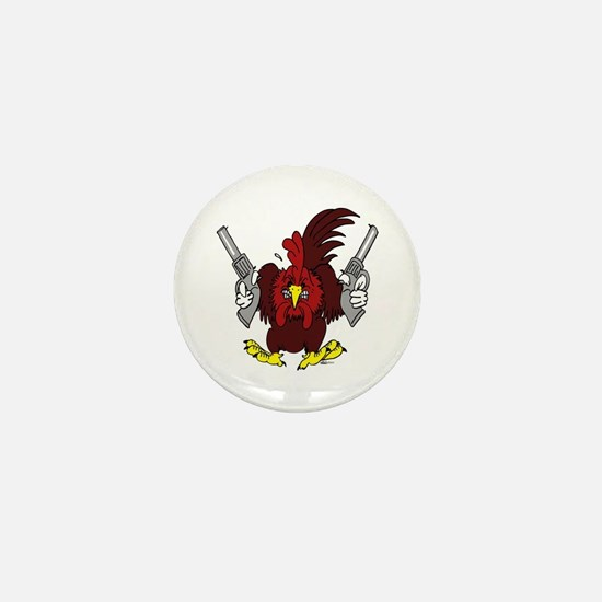 Chickens Got Guns Mini Button