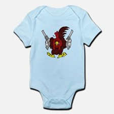 Chickens Got Guns Infant Bodysuit