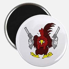 """Chickens Got Guns 2.25"""" Magnet (10 pack)"""