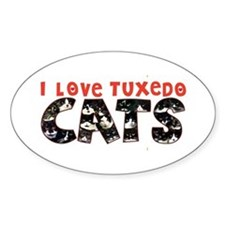 I Love Tuxedo Cats Decal