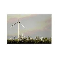 Colorful Wind Turbine Rectangle Magnet