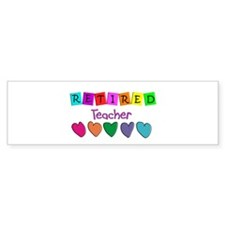 retired teacher Bumper Sticker