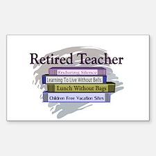 retired teacher Sticker (Rectangle 10 pk)