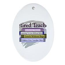 retired teacher Ornament (Oval)