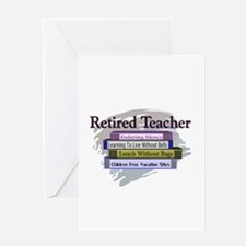 retired teacher Greeting Card