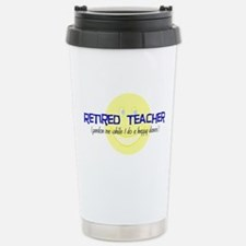 retired teacher Stainless Steel Travel Mug