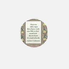 Never Read A Book Mini Button