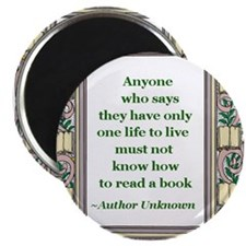 Never Read A Book Magnet