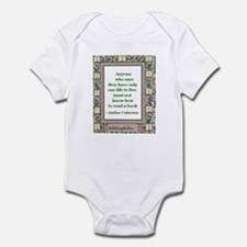 Never Read A Book Infant Bodysuit